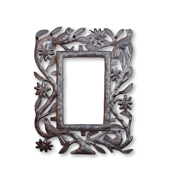 Haitian Metal Frame, Tree of Life Home Decor Art, Limited Edition Handcrafted Sculpture 11x14in