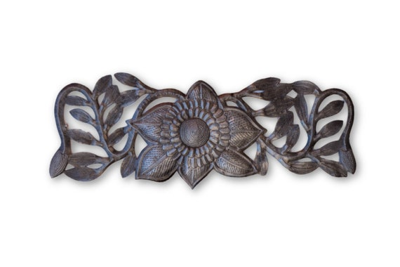 Flower Vine, Quality Haitian Handcrafted Sculpture, One-of-a-Kind 17 x 6