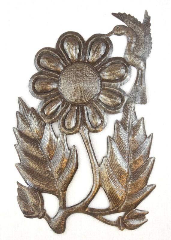 """Hummingbird To The Sunflower Nectar, Farmhouse home decor, Novelty gift  11"""" X 17.5"""""""