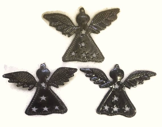 "Christmas Mini Angels (Set of 3), Holiday Gift Giving Ornament & Gift Tag, Novelty, Stockings, Angel wings , 2.5"" x 3.5"""