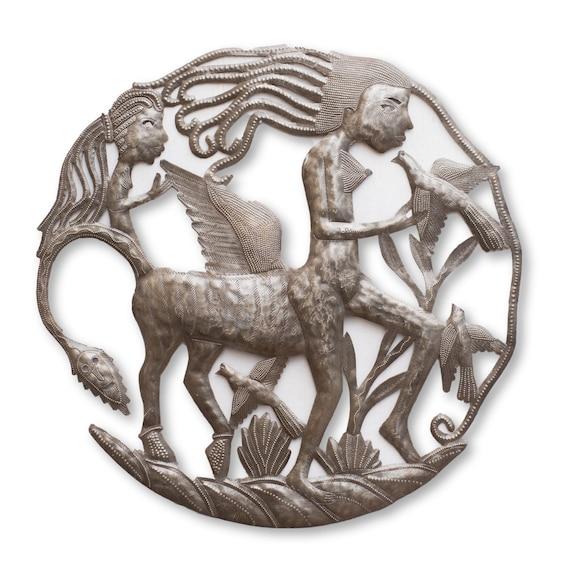 Centaur Mythology Creature, Original Wall Hanging Artwork, Limited Edition Eco-Friendly Art, Fair Trade 23x23