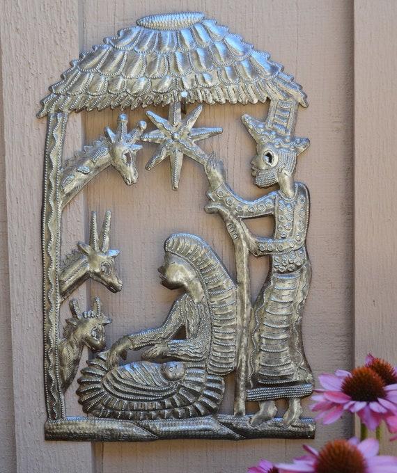 Nativity in the Stable Haiti, Christmas Holiday Fine Art Decor, Tropical Decorative artwork