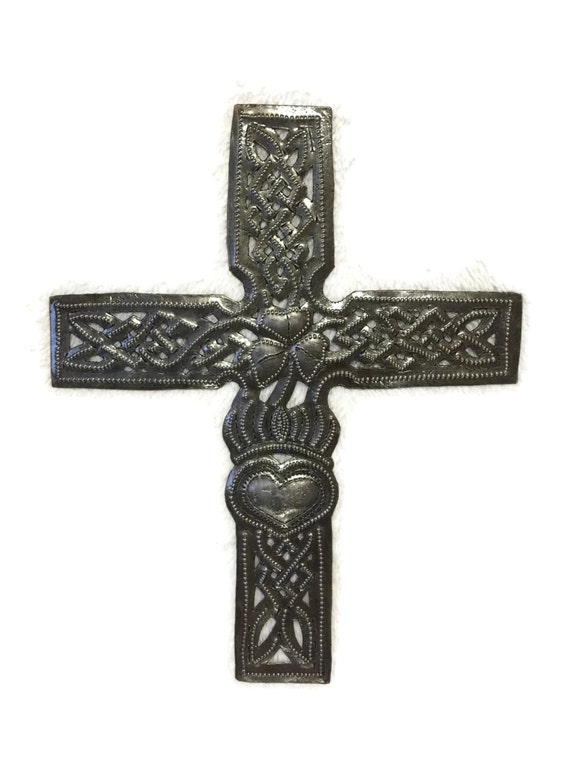 "Celtic Cross, Small Metal Religious original wall collection, Ornamental, novelty gift 7.25"" x 9"""