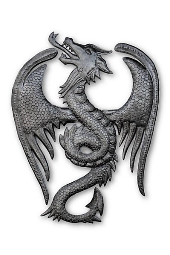 Powerful Dragon, Quality Haitian Mystical Creature,  14x18