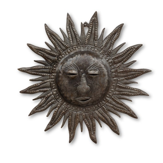 Sleeping Sun, Quality Garden Metal Sculpture, One-of-a-Kind Art 14x14
