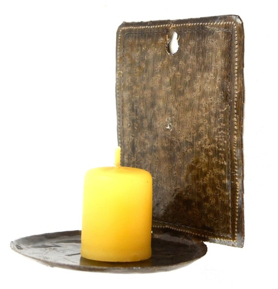 "Plain Wall Sconce Candle Holder, Metal, Home Decor, Set of 2~5"" x 4.5"" (Candle NOT Included)"