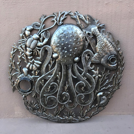Octopus Wall Plaque Decor