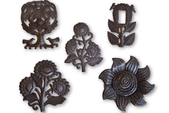 Spring Has Sprung, Multiple Quality Haitian Metal Pieces, Various Sizes
