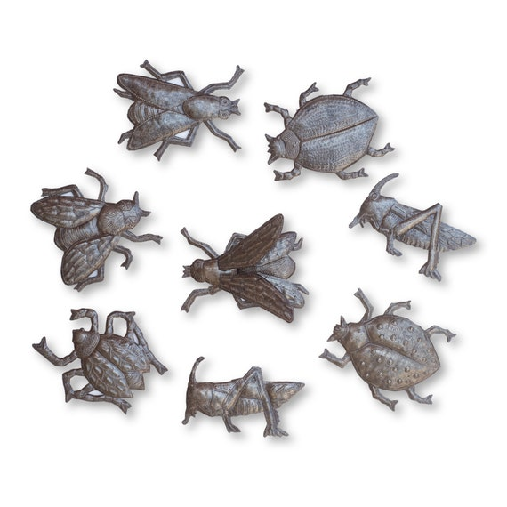 Bugs, Bugs, & More Bugs, One-of-a-Kind Recycled Haitian Metal Bundle, Fair Trade