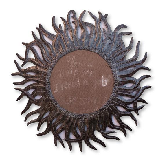 Haiti Metal Home Decor, Solar Frame Handmade Fair Trade Art, One-of-a-Kind 23.5x23in.
