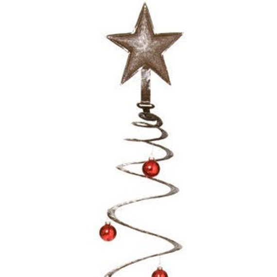 "Spiral Christmas Tree, Holiday Party Decor, Modern Rustic, Gift Shopping 14"" x 30"""