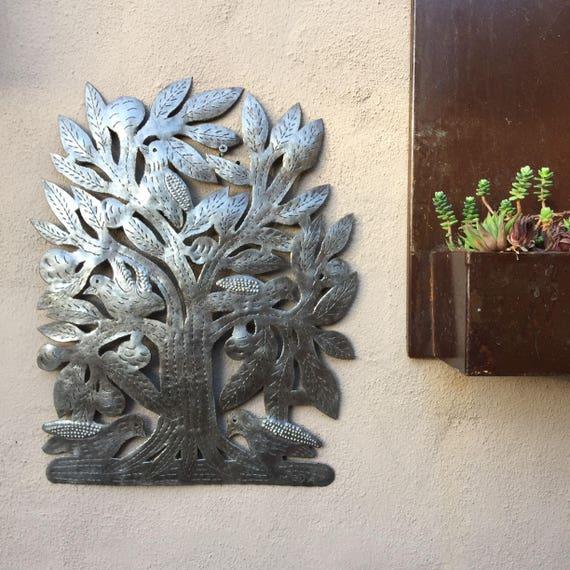 """Primitive Tree of Life, Outdoor Garden Art 8"""" x 11"""""""