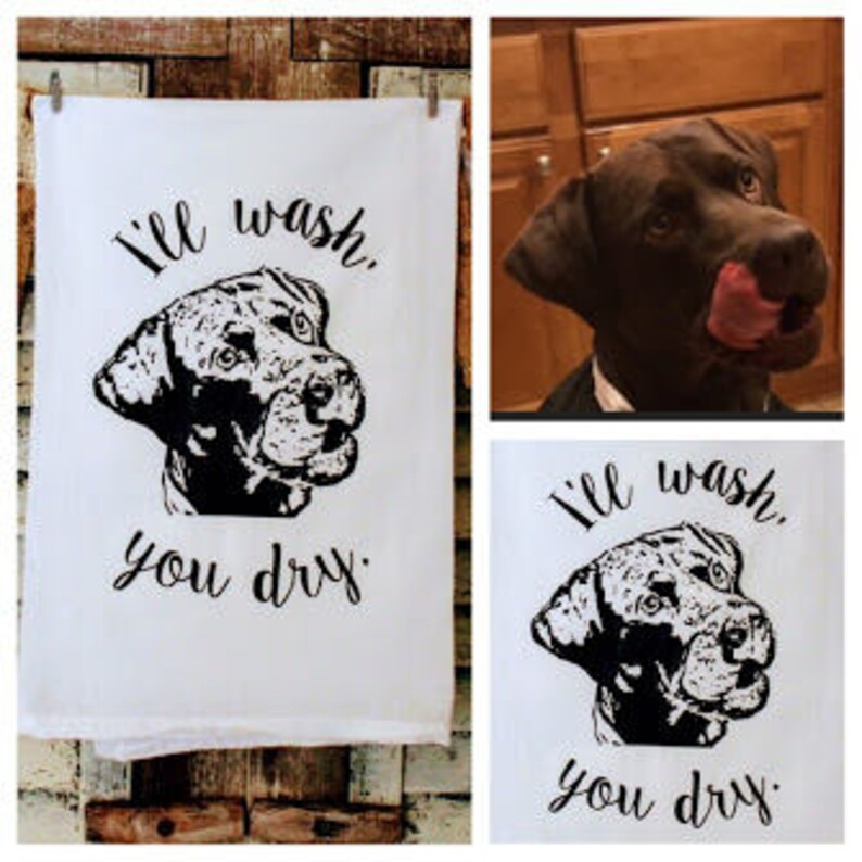 Tea-Towel-Your-Pets-Picture-Gifts-Dog-Lover-Housewarming-Linen image 0