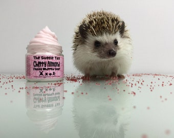 Fluffy Whipped Hedgehog Soap // Cherry Almond  // the suggie tail // 2oZ