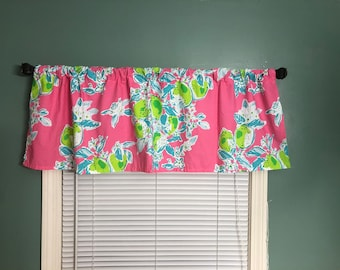 Pink Lemonade Or Local Flavor Lilly Pulitzer Pottery Barn Sheets Into  Custom Made Curtain Valances Bedroom Office Nursery Home Lemons Baby
