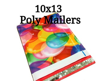 25 Birthday Balloons Poly Mailers/Designer Poly Mailers/Size:10x13/Packing Supplies/Mailing Supplies/Peel & Seal