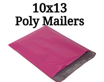 25 Pink Poly Mailers/Size:10x13/Packing Supplies/Mailing Supplies/Peel & Seal