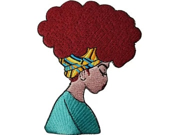 a5eeb7c54d9af Afro Queen Lady Iron-On Patches