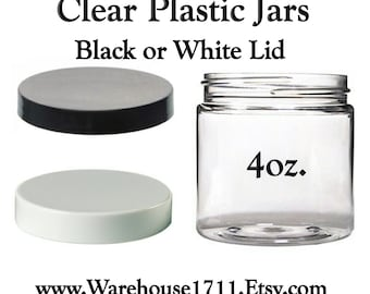 4oz. PET Clear Plastic Jar Lotion Jar/Cream Jar/Facial Cream Jar/Storage Jar/Travel Jar/Bath Salts/DIY