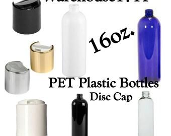16oz Cosmo Slim Plastic Bottles  ~ DISC CAP ~ Lotion Bottles/Shampoo Bottles/Conditioner Bottles