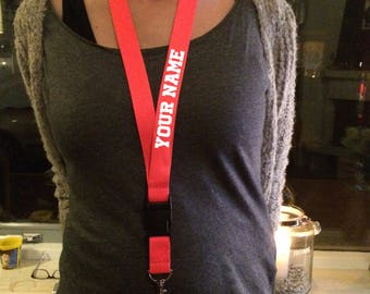 personalized lanyards polyester full print custom lanyard keychain with text name sports lanyard teachers gift for teachers personal lanyard