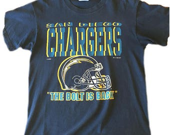 1992 San Diego Chargers t-shirt short sleeve cotton LEE womens large mens  small great condition football sale blue yellow graphic NFL 90 s 345a29e3e