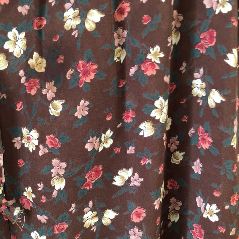 Vtg Georges Marciano Guess Floral paper bag Pants high waisted tie waist Womens Vintage Large polyester flowers sheer cover up festival