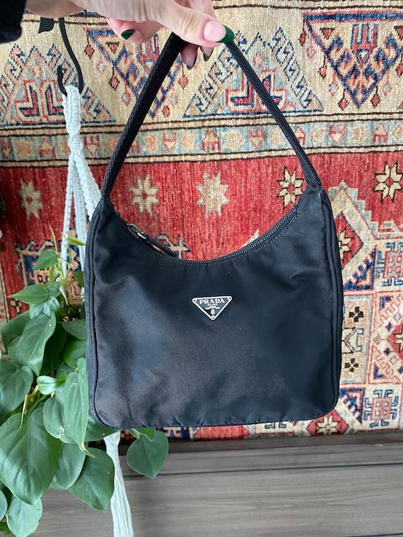 Vintage Prada nylon tessuto mini hobo handbag 90s… - image 1