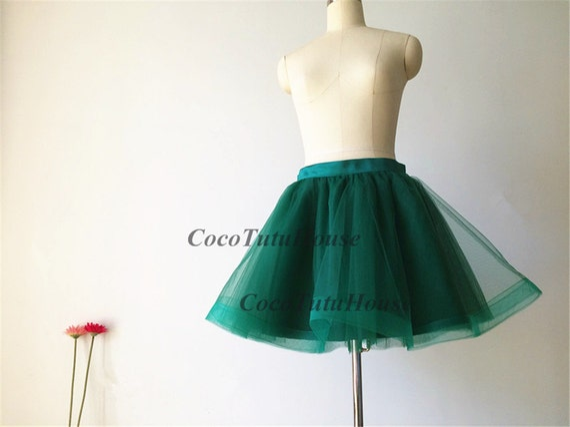 357b33016 Tul verde esmeralda falda caballo pelo tul mujeres falda tul