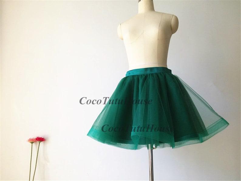 ea108fd00 Emerald Green Tulle Skirt/Horse Hair Tulle Skirt/Women Tulle   Etsy