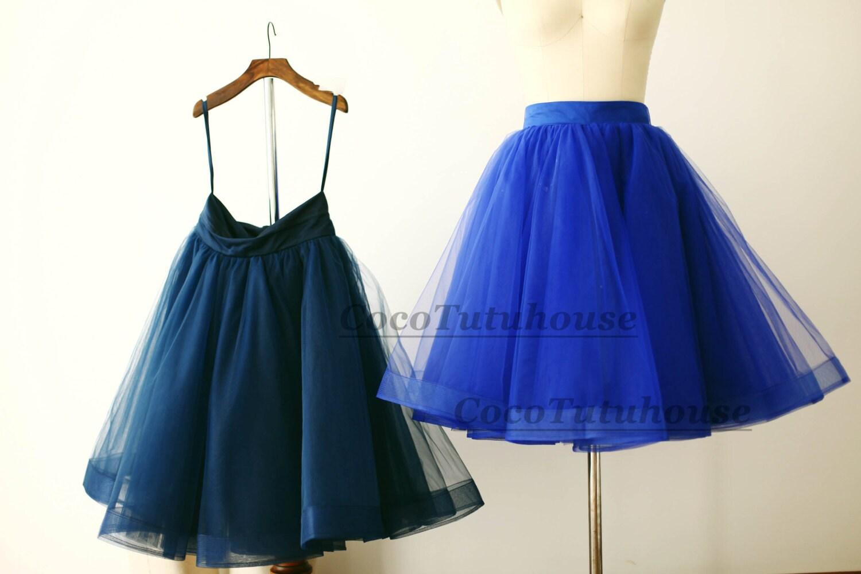 Navy Blue Tulle Dress Women