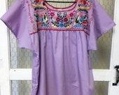 Mexican blouse, Fiesta blouse, Cinco de Mayo, Boho summer top - Women 39 s large -ready to ship