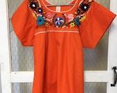 Mexican blouse, Fiesta blouse, Cinco de Mayo, Boho summer cotton top - Women 39 s medium -ready to ship
