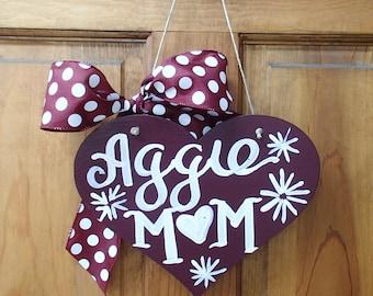 TAMU Texas A&M Aggie Mom Sign - made to order!
