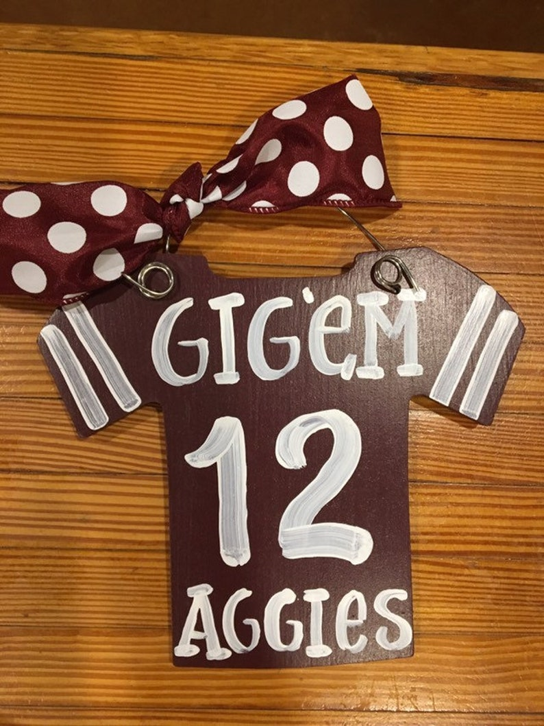 finest selection 5ce57 e5cf8 12th Man, Texas A and M, Texas Aggies, Handmade Jersey, Christmas Ornament  for the Tree, Maroon and White - Ready to Ship
