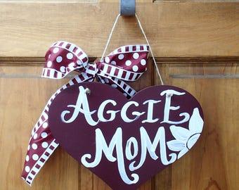 TAMU Texas A&M Aggie Mom Sign - made to order