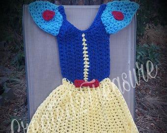"""Princess Blanket/""""Snow"""" Inspired Blanket/Crochet Princess Blanket/Princess Dress/Dress Blanket/Princess Dress Blanket"""