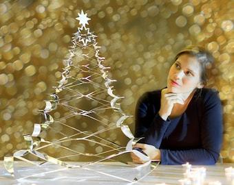 The Christmas tree deployable in stainless steel diameter 60 cm GRANN Large Model