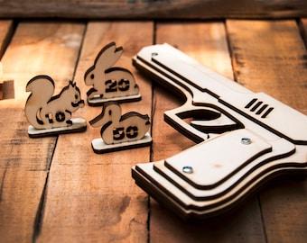 Husband Gift, Rubber Band Gun. Men's Gift, Husband Gift, Boyfriend Gift ,Christmas Gift for Men or Kids