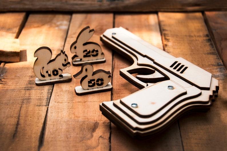 Husband Gift Rubber Band Gun. Men's Gift Husband Gift image 1