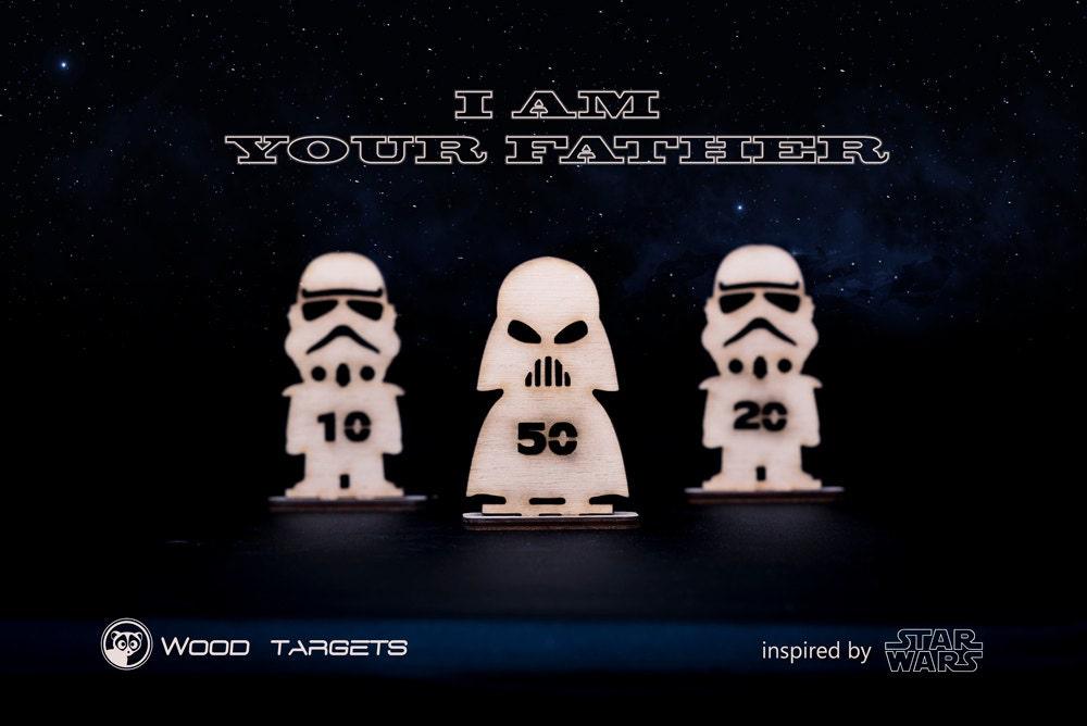 Darth Vader Starwars inspiriert schießen Ziele für Gummiband   Etsy