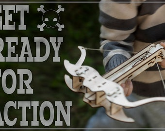 Christmas Gift For Dad, Wood Crossbow DIY Kit, Husband Christmas Gift, Gift For Him, Father, Boyfriend And Son. Husband Gift, Gift For Men