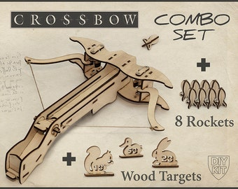 Mens  Gift, Crossbow DIY Kit With targets. Gift For Him, Father Gift, Husband Gift. DIY Crossbow, For men, Birthday, Valentine's day gift