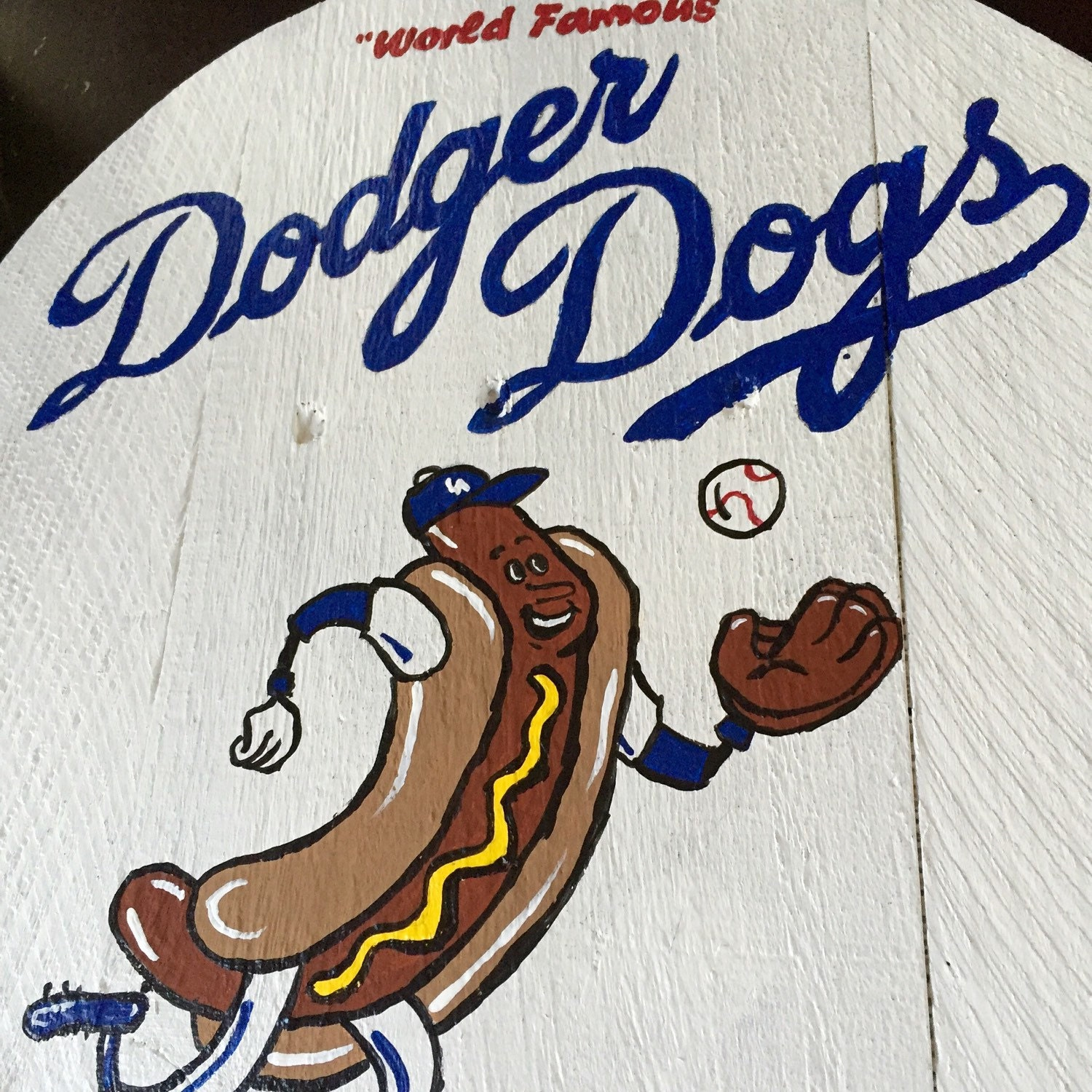 stadium series dodgers stadium dodger dog sign etsy