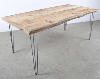 Natürliche Massivem Holz Altholz Tisch Gebaut, Um Letzte   Recycling Holz  Tisch Auf Haarnadel Edelstahl Tischbeine, Handmade, Modern, Industrie