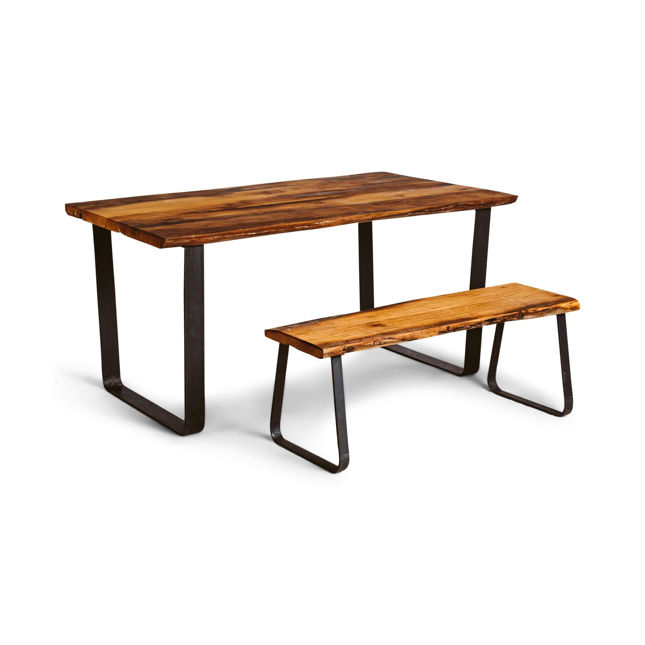 Issus de KENT naturel avec les jambes en forme de U - récupéré table en bois massif chêne, table à manger en chêne, mis sur pieds de table moderne, industriel,