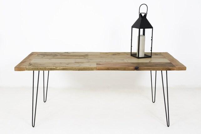 Schreibtisch handgefertigt Holz und Stahl Modern Tisch | Etsy