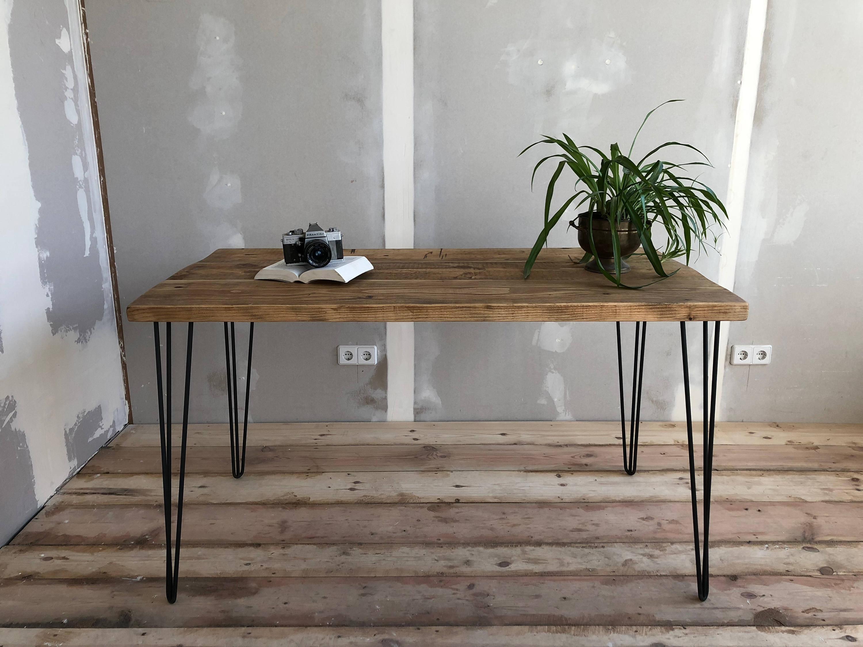 Aufgearbeiteten Holz Esstisch Recycling-Holz Tisch auf