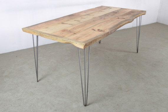 Esstisch Aus Geborgenem Holz Hairpin Tischbeine Rustikale | Etsy