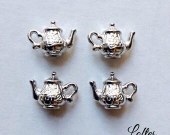 10 teapot 3D charms SCT100